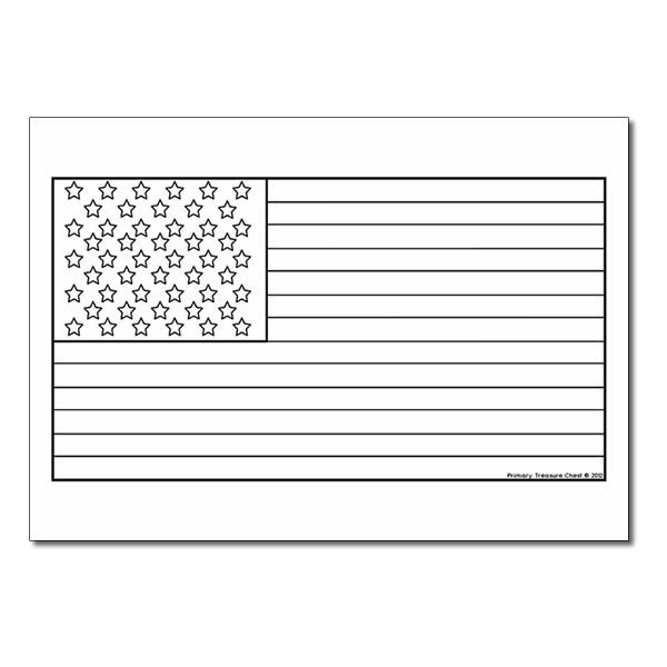 American Flag Coloring Sheet Classroom Printables For Elementary Kindergarten School Flag Coloring Pages American Flag Coloring Page Fourth Of July Crafts For Kids