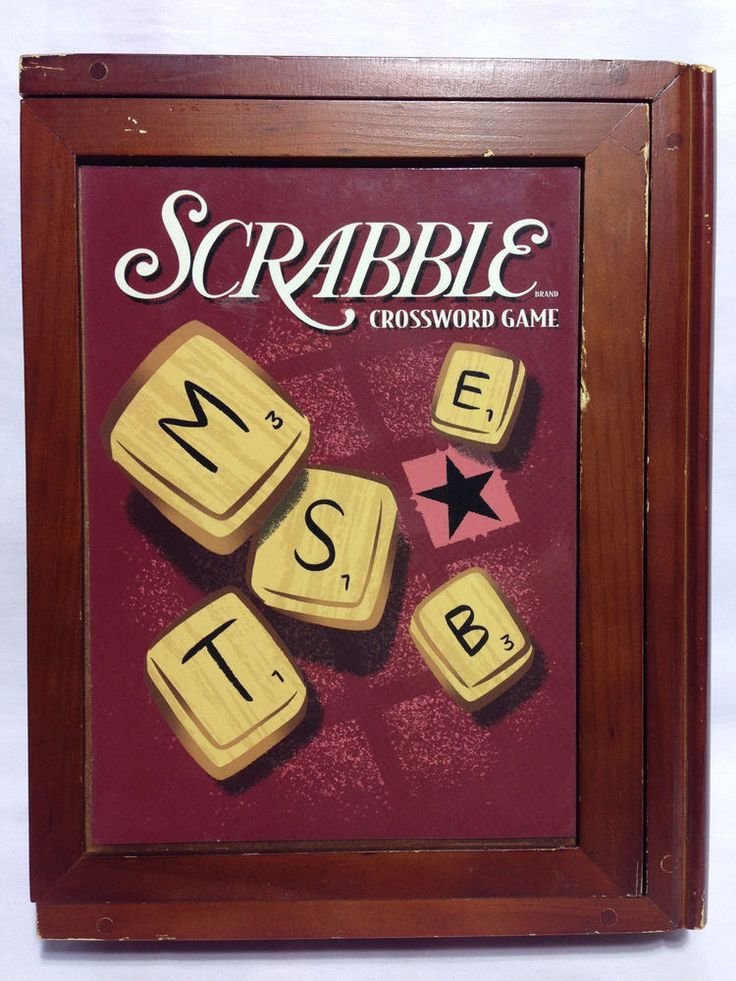 Parker Brothers SCRABBLE Vintage Game Collection Deluxe Wood Book Shelf Edition