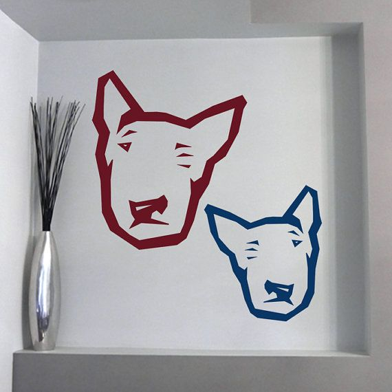 Dog Decal Bull Terrier Spitfire Vinyl Sticker Decal  by PSIAKREW
