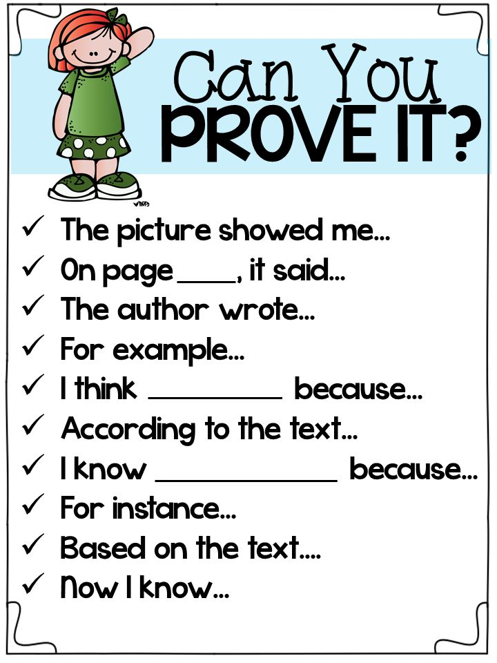 close reading evidence posters for primary students