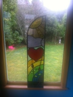 My first lead light window. Panel one complete now for the other half!