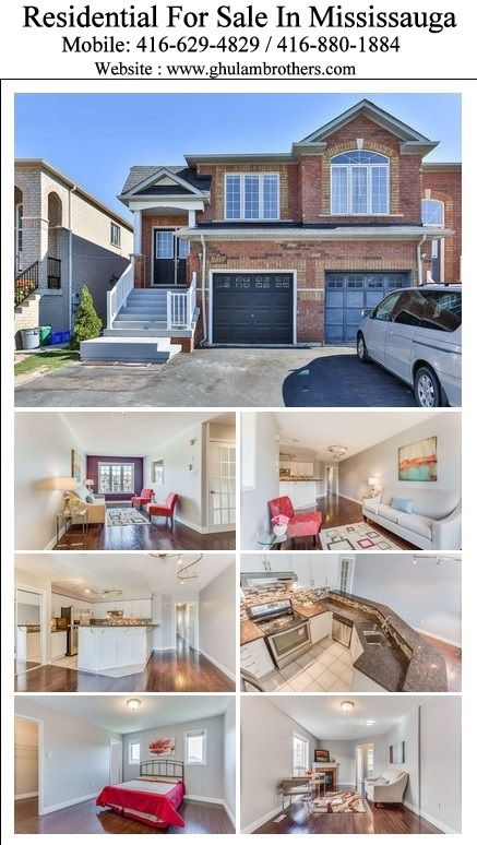 For Showing Please Call (905) 290-6777 & (416) 629-4829 Click Image for More Details. http://www.ghulambrothers.com/listings/1722211-600-rossellini-dr-mississauga-w3317908