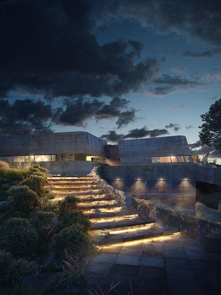 Best of Week 39/2016 - Potrero Bunker House by David Guardado - Ronen Bekerman - 3D Architectural Visualization & Rendering Blog