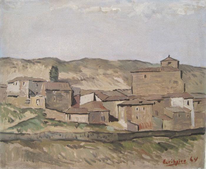 "Edgardo Ribeiro ""Pueblo de España"" Óleo sobre tela  45 x 55 cm.  Año 1964   http://www.portondesanpedro.com/ver-producto.php?id=11762"
