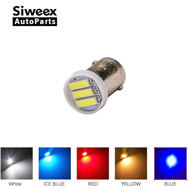 10x Ba9s T4w 3 7020 Smd Led Bulb Dc 12v Side Marker Lamp License Plate Bulb Door Lights White Yellow Red Blue Ice Blue Review Led Bulb Red And Blue Ice Blue