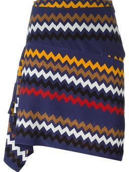 falda drapeada asimétrica