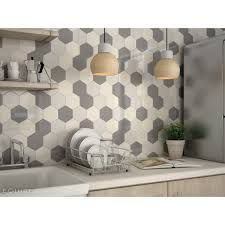 """Résultat de recherche d'images pour """"credence cuisine carrelage hexagonal"""""""