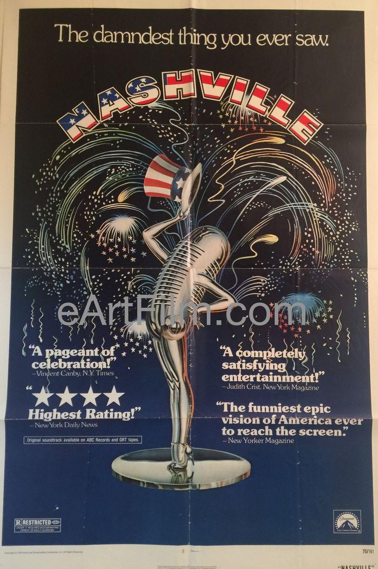 Happy #FourthofJuly https://eartfilm.com/search?q=red+white+and+blue #4thofJuly #July4th #JulyFourth #RedWhiteandBlue #America #USA #movies #posters #movieposters    Nashville-1974-27x41-Keith Carradine-Geraldine Chaplin-Scott Glenn