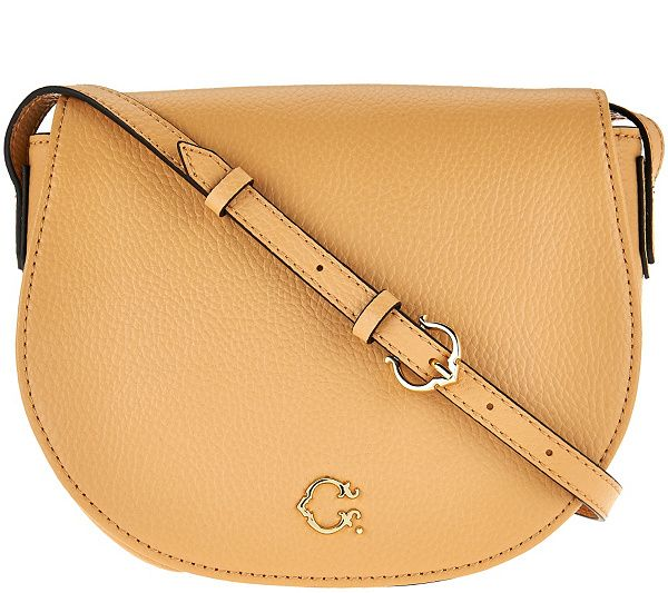 Round out your look with this pebble leather handbag from C. Wonder. QVC.com