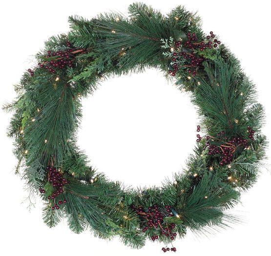 74 Best Decorative Christmas Wreaths Images On Pinterest  - Christmas Wreath Lights