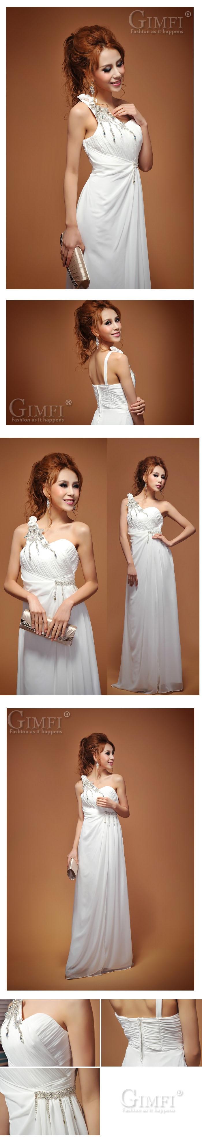 Vestido de Noche Elegante. Color: Blanco. Tallas: S - M - L. Precio: $90.000