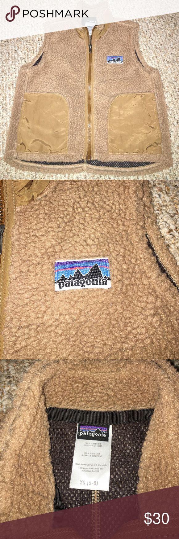 Patagonia Fleece Vest GUC. Caramel color. Size XS (5-6). A bit worn at the arm holes. Patagonia Jackets & Coats Vests