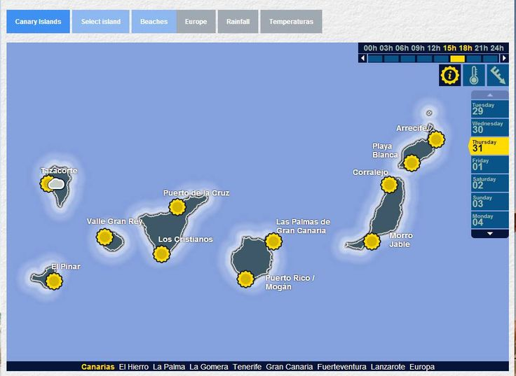 We proudly present the world's most boring weather forecast   From: Canary Islands Facebook https://www.facebook.com/Canary.Islands.Tourism/photos/a.417176412243.208792.97899057243/10152645837212244/?type=1&theater