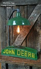 Steampunk Lamp, Antique John Deere Tractor Radiator  Farm