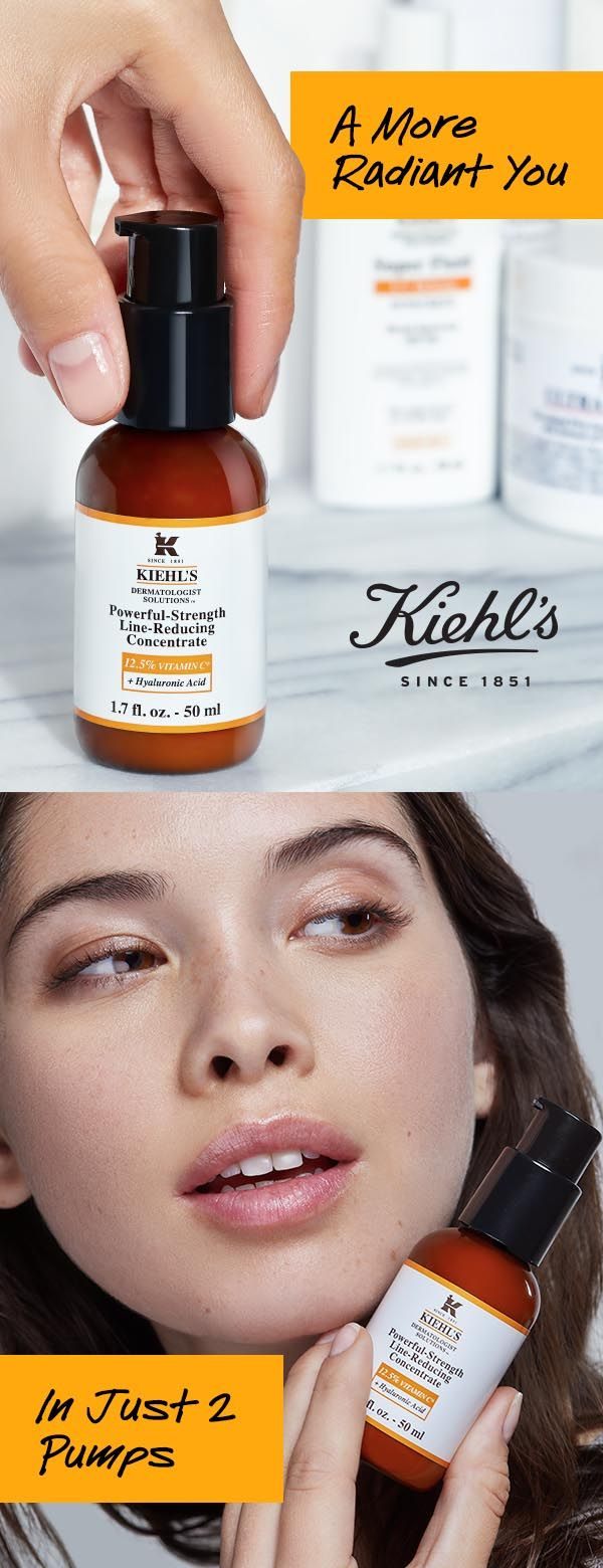 Radiant skin starts with the Vitamin C and Hyaluronic Acid in Kiehl's Powerful Strength Line Reducing Concentrate. Don't just take our word for it— try it and C!