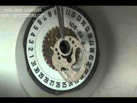 desarme y armado de reloj de pila parte 4