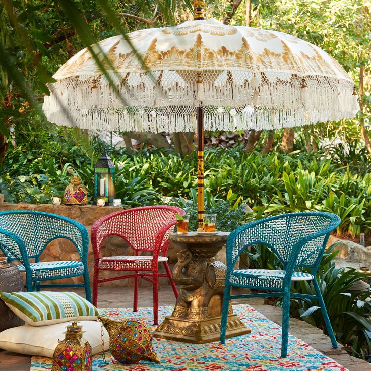 Balinese White Wood Umbrella Balinese Pier 1 Imports