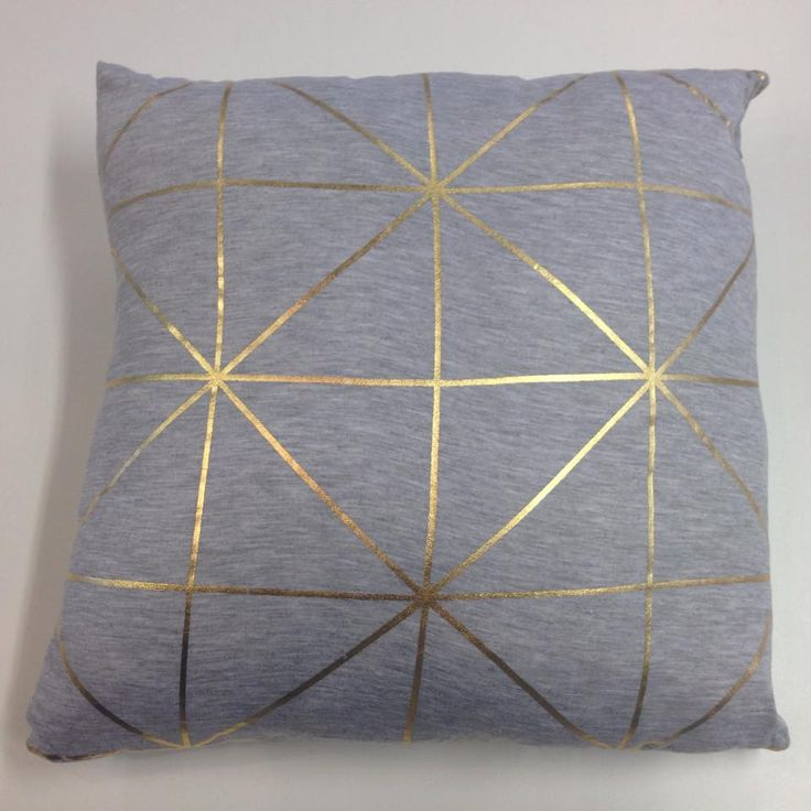 Cushion - Grid Print - Metallic Gold – Shut the Front Door! online