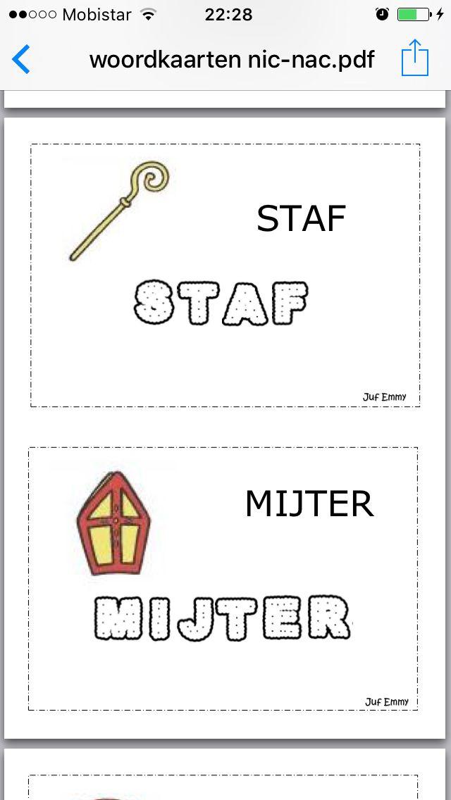 Woordkaarten letterkoekjes