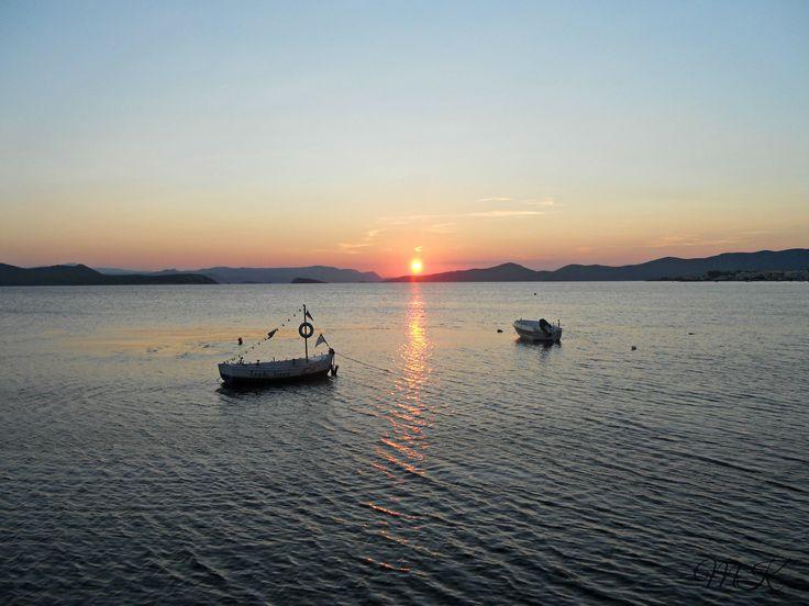 Sunset at Nea Styra
