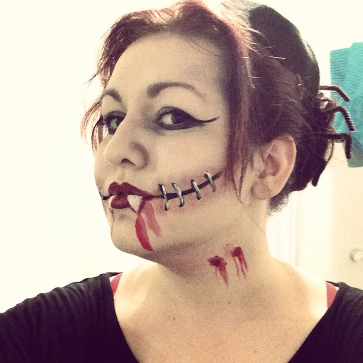 Vampire/corpse makeup inspired by Pinterest for work
