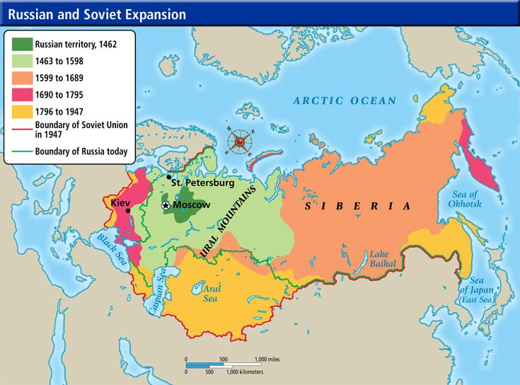ch17-s5- Under Peter the Great's ruling, Russia was once again expanded. If you see the map above, the years of his expansion were from 1689 to 1796.
