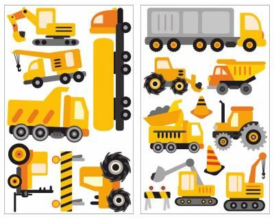 Nice  teiliges Baustellen Fahrzeuge Set Wandtattoo Baustellen Fahrzeuge Wandtattoo Set