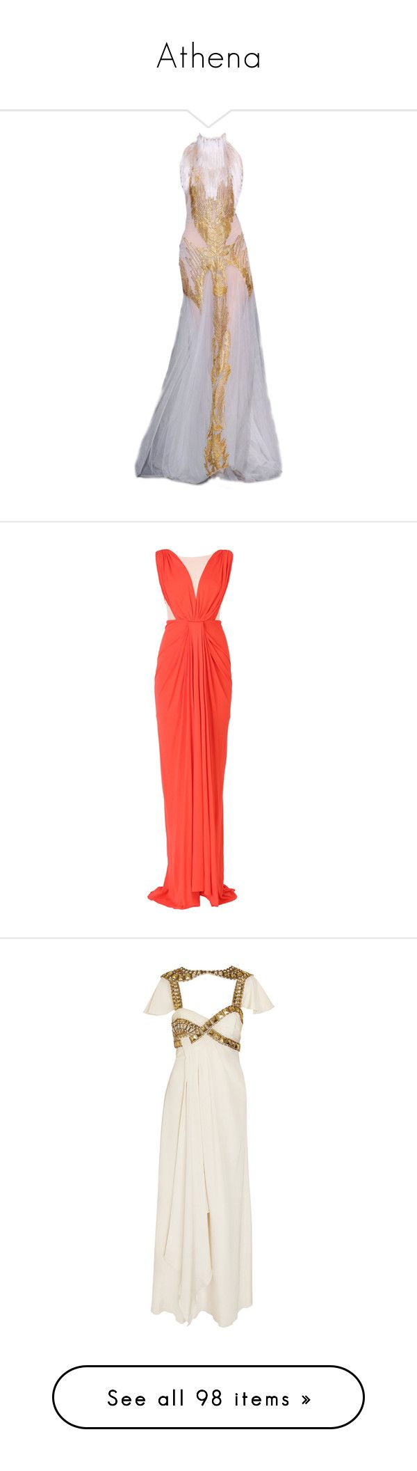 """Athena"" by mlleemilee ❤ liked on Polyvore featuring dresses, gowns, long dresses, evening gowns, jersey dress, coral red dress, long red evening dress, red ball gown, red jersey dress and long dress"