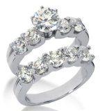 Platinum Diamond Engagement Bridal Set 3.70ctw. 4004-PLATENBR-136 – Size 8 Platinum Diamond Engagement Bridal Set 3.70ctw. 4004-PLATENBR-136