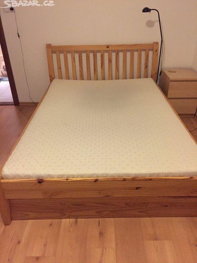 1000 140 s matracem Prodám starší postel v zachovalém stavu o - obrázek číslo 1