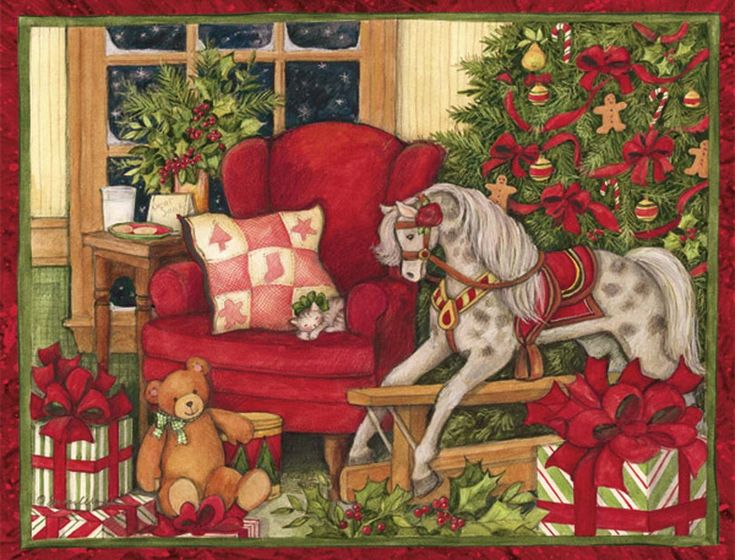 Each set of Boxed Christmas Cards features beautiful artwork inside and out by an acclaimed LANG artist.