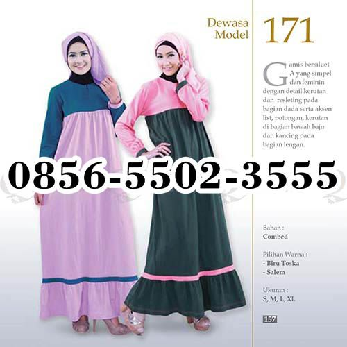 Gamis Qirani model 78, HP.0856-5502-3555,