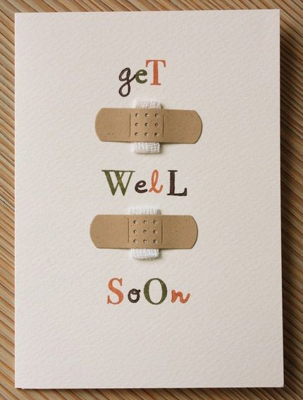 """Super easy and cute """"get well soon"""" card!"""