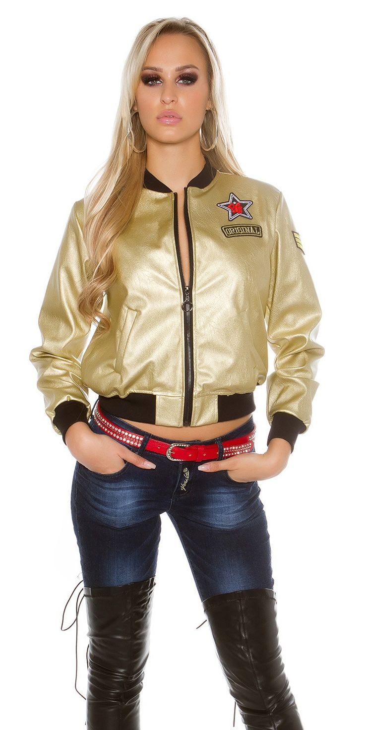 Bomber Jacket In Leather Look