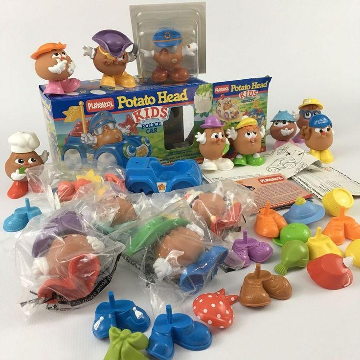 Vintage Playskool Potato Head Kids Police Car Set And Extra Figurines NOS Lot