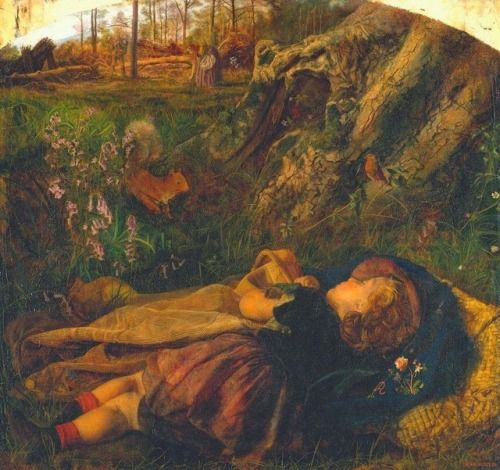 Arthur Huges, The Woodsmans Child, 1860; via loumargi on tumblr