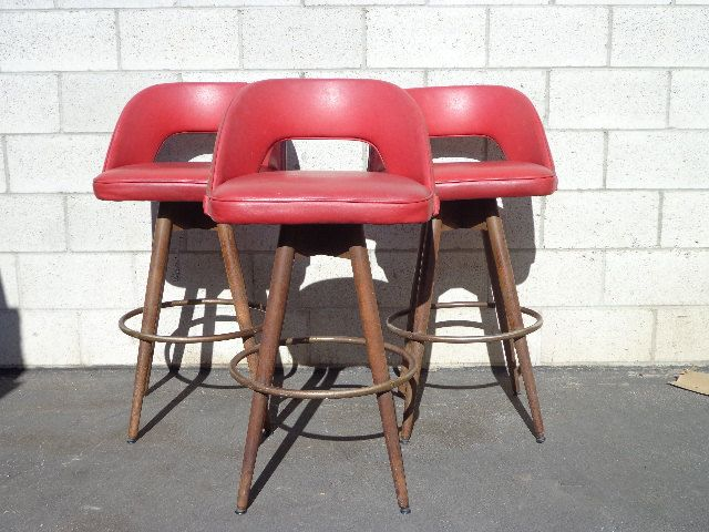 Set of 3 MCM Swivel Bar Stools MCM Danish Chairs Mid Century seating Modern Dining Chairs Midcentury Dining Set Wood Seats Chair Seating by DejaVuDecors on Etsy