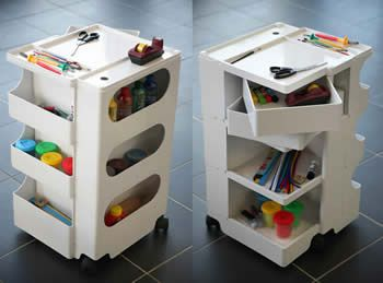 Mobile Storage Of Office Supplies Craft Materials And Paper Bobby Trolley