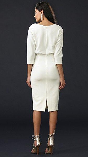 Badgley Mischka Long Sleeve Dress In Ivory   Kleid in 2019   Dresses,  Badgley mischka und Fashion 533e53fcc8