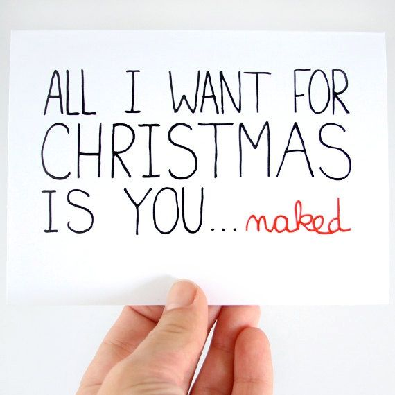 Sexy Christmas Card Funny Christmas Card All I Want For -8508