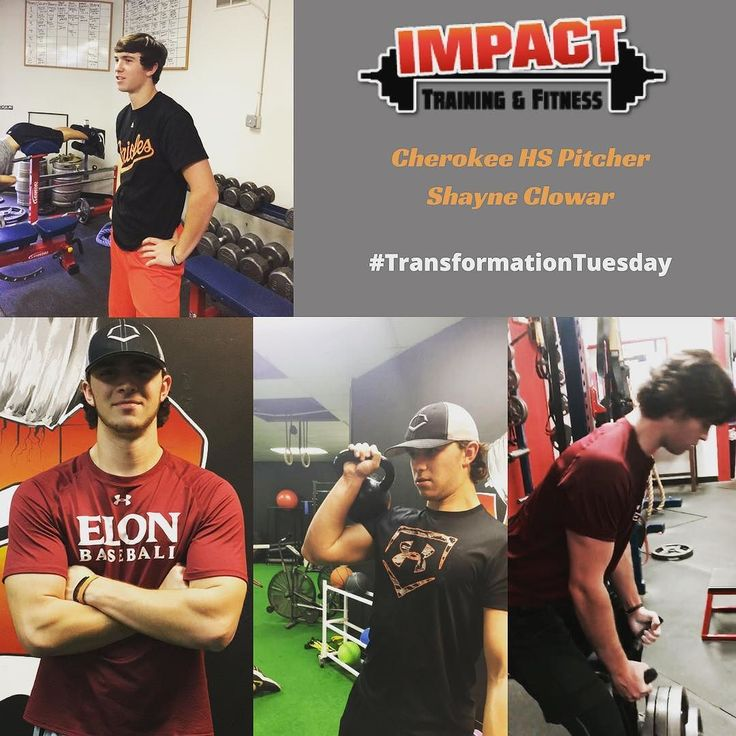"""Cherokee Pitcher (Elon University Commit) Shayne Clowar has come a long way over the last few years. Shayne started at Impact as a skinny 170 pound #hardgainer and through a ton of hard work has morphed into a 210 pound work horse. Shayne is many times the last guy to leave the gym and has put in a lot of quality work to get here. Beside muscle gain Shayne's velocity is way up from when he started too. Shayne's commitment to training right eating right and dedication to the """"process"""" has…"""