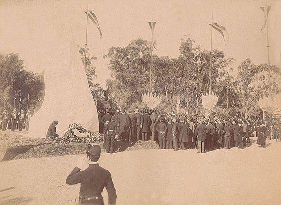 AGNArgentina: Domingo Faustino Sarmiento, nacimiento (febrero 15, 1811), inauguración del monumento a Sarmiento en el Parque 3 de Febrero, Buenos Aires, aficionado 213652