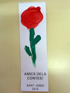 Punt de llibre de Rosa per Sant Jordi