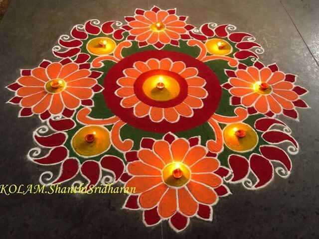 Colour ful rangoli.....