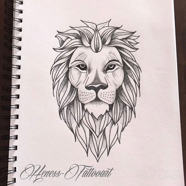 How To Draw A Lion Tattoo