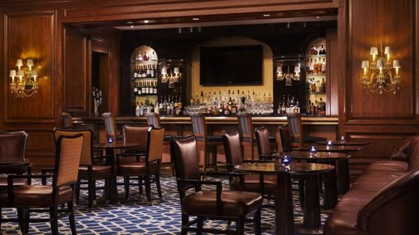 Ritz-Carlton-St-Louis-bar-lounge. A Martini made with Louis XIII de Remy Martin Cognac served in a Waterford crystal glass that you get to keep will cost you only $500.00.