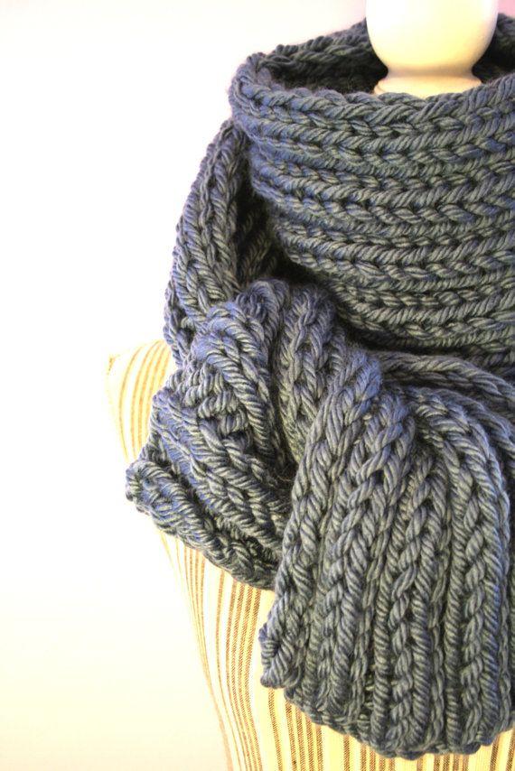 Lunga sciarpa comoda maglia acrilico  anallergico  / di AloneMavi