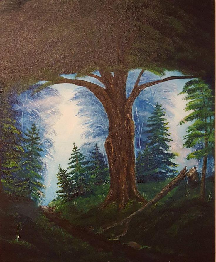 Old Oak tree oil on canvas Anne Karin Stølan
