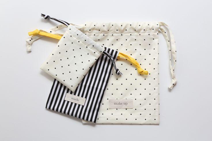 DIY drawstring bag tutorial to organise your life!