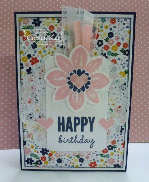 HAPPY HEART CARDS: JAI #256: STAMPIN' UP! FLOWER POT MEETS PETAL POTPOURRI